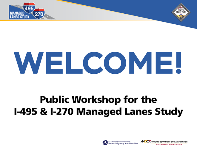 Save The Date (April 23, 2019): Public Workshop on Widening I-495 at Eleanor Roosevelt HighSchool