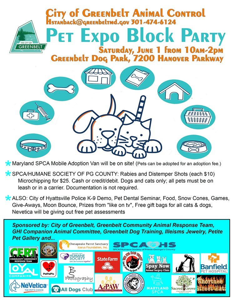 Pet Expo Block Party on Saturday, June 1, 2019